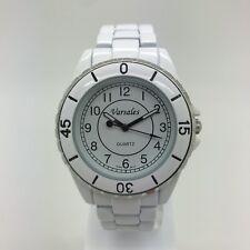 Ladies Versales Round White Dial Metal Bracelet Fashion Style Numbers Watch VM1