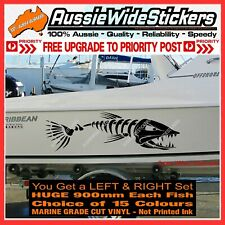 Huge 900mm Fishing BOAT FISH Stickers Marine Vinyl Tackle Box Cabin or Hull