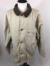 VTG LL Bean Classic Barn Coat Men's Size XL Beige Field Jacket Made In USA