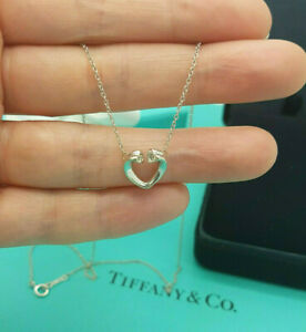 Tiffany & Co. 18ct White Gold Paloma Picasso Diamonds Tenderness Heart Necklace