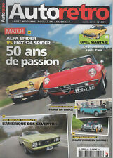 AUTO RETRO 409 JAGUAR XK150 COUPE FIAT 124 SPORT SPIDER ALFA SPIDER 1600 JUNIOR
