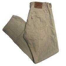 LEVIS Vintage 501 Mens Beige Straight Regular Jeans W34 L32 (M752)