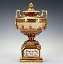Royal Vienna Porcelana potpurrí Florero Pintura lupa Juicio el Paris & Achilles
