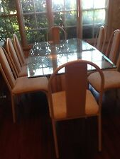 Glass Dinner Table With 8 Chairs