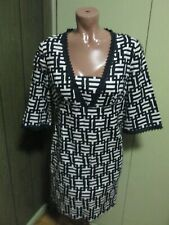 NWOT Ann Taylor Black White GEOMETRIC   Prints  DRESS SIZE 6 LINING