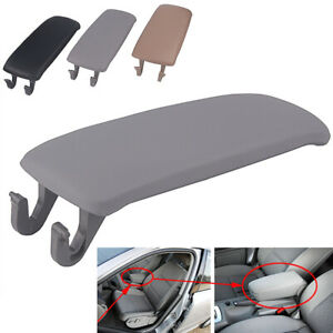 1X Leather Armrest Center Cover Console Lid Gray for AUDI A4 S4 A6 Allroad 97-05