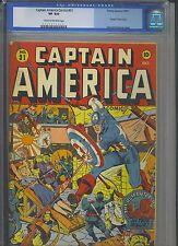 CAPTAIN AMERICA #31 CGC VF 8.0; CM-OW; WWII Japanese bondage cvr by Schomburg!