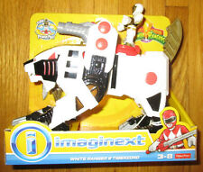 Imaginext POWER RANGERS WHITE RANGER AND TIGERZORD MMPR TOMMY DINOZORD