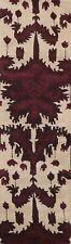 "Modern Geometric Oriental Runner Rug Wool Hand-Tufted Ivory Carpet 2' 7""x9' 10"""