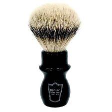 Parker Handmade Black Handle Deluxe 100% Silvertip Badger Long Mug Shave Brush