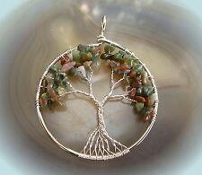 keltischer lebensbaum amulett heilstein anhänger baum des lebens herbstfarben