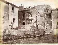 G.Sommer, Sicilia, Taormina, fontana Vintage albumen print Tirage albuminé