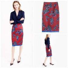 NWT $228 J.CREW COLLECTION Size 6 No. 2 Pencil Skirt in Vibrant Wildflower Silk