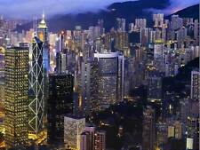 HONG KONG NIGHT SKYLINE CITYSCAPE PHOTO ART PRINT POSTER PICTURE BMP994B