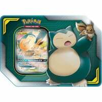 Pokemon TCG Tag Team Tin Eevee & Snorlax GX 4 Booster Packs Sealed