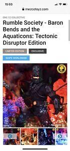 Mezco One:12 Rumble Society Baron Bends & The Aquaticons Tectonic Disruptor