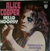 "ALICE COOPER⚠️Unplayed⚠️1973-7""-Hello Hooray/Generation-WB 16248-Germany"