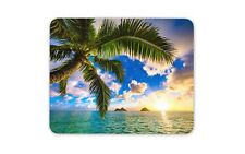 Cool Beach Scene Mouse Mat Pad - Palm Tree Sunset Sea Sky Gift PC Computer #8547