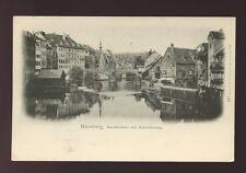 Germany NURNBERG Nuremberg Karlsbrucke mit Schleifersteg c1902 u/b PPC
