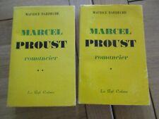 MARCEL PROUST - ROMANCIER 2/2 VOL MAURICE BARDECHE 1971 LITTERATURE