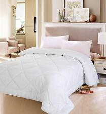 White Quilted Duvet Cover Set Comforter Insert Queen Size Bedroom Decor Soft