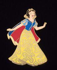 Rare Le 125 Disney Pin✿Snow White Golden Brocade Princess Dress Designer Gown Le