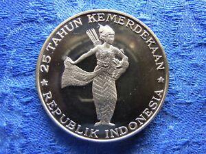 INDONESIA 500 RUPIAH 1970, KM25 PROOF STRIKE hair lines