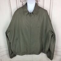DOCKERS Mens XXL Jacket Lightweight Pockets Collared Full Zip Lined Long Sleeve