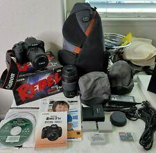 Canon Rebel T5i EOS 18.0MP DSLR Camera w/ (2) Lens in Original box + More !MINT!