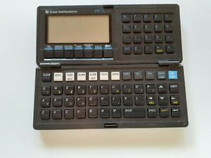 Texas Instruments PS-6200 Personal Organizer Calculator World Time Memo