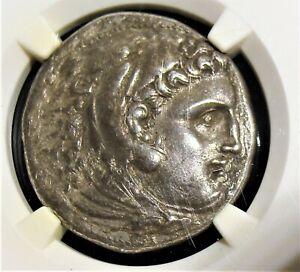 Kingdom of Macedon Alexander III Tetradrachm 336-323 BC, NGC XF 4/5 - 2/5