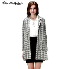 Quality Miss Selfridge Mono Print Duster Jacket Coat with Dogtooth Print RRP £39