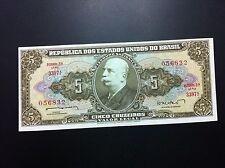 BRASIL BANKNOTES-  REPUBLICA DOS ESTADOS UNIDOS DO BRASIL- CINCO CRUZEIROS