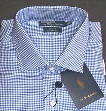 Polo Ralph Lauren shirt 17 35/36 long sleeve check cotton nwt $145