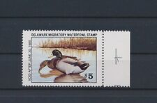 LO64092 USA 1985 Delaware duck birds hunting $5 edge stamp MNH