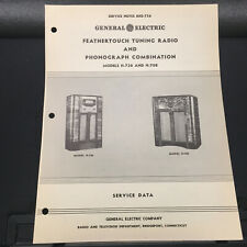 Original Service Manual GE Model H-736 H-708 Radio Phonograph General Electric