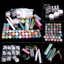 Professional Acrylic Nail Art Full Kit, Powder Primer Tips Practice Tool Set Us~