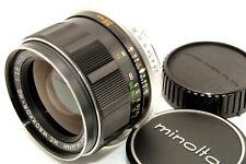 Near Mint Minolta MC W.ROKKOR HG 35mm f/2.8 Wide Angle Standard Lens Caps Japan