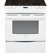 Ge Premium-Quality Slide-in Front Control Electric Range + Self-Cleaning Feature