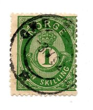 Norway - Facit # 16/ Sc# 16 Late 1892 dbl ring CDS - Lot 0215193