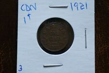 A-79 1921 Canada One Cent George V Canadian Penny Copper Coin RCM