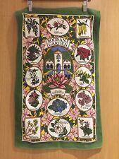 VINTAGE- 100% Cotton Tea Towel - Bodnant Garden North Wales - British
