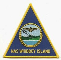 """USN NAVY WHIDBEY ISLAND NAS NAVAL 4"""" EMBROIDERED AIR STATION PATCH"""