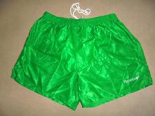 vintage Rucanor Nylon Shorts oldschool pants sport grün glanz 80`s Gr.8 L/XL