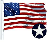 8'x12' ft American Flag US USA | EMBROIDERED Stars, Sewn Stripes, Brass Grommets