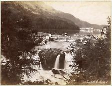 Suisse, Saint-Moritz, les cascades  Vintage albumin print  Tirage albuminé
