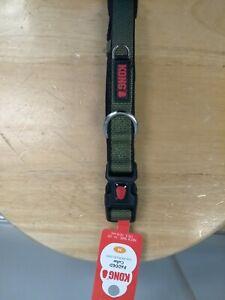 "KONG  20 Padded Dog Collar - Comfort Green - Medium - 14"" to 20"" - NEW"