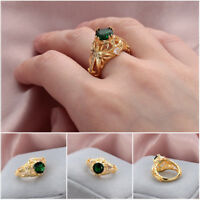 2019 New Emerald Diamond Anniversary Ring Women Engagement Wedding Gemstone