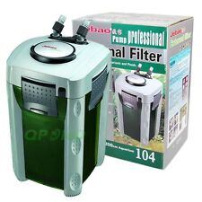 LARGE AQUARIUM CANISTER FILTER 530 GPH IDEAL FRESH/SALT WATER UP TO 200GAL TANK