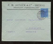 SMYRNA ADVERTISING ENVELOPE 1914 ASTLICK + CO...AUSTRIA POST SUPERB